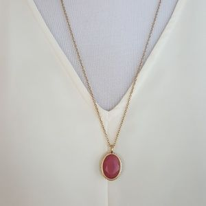 New Vince Camuto Pave/Stone Pendant Necklace